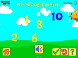 Recognize whole numbers up to 10 Math Game