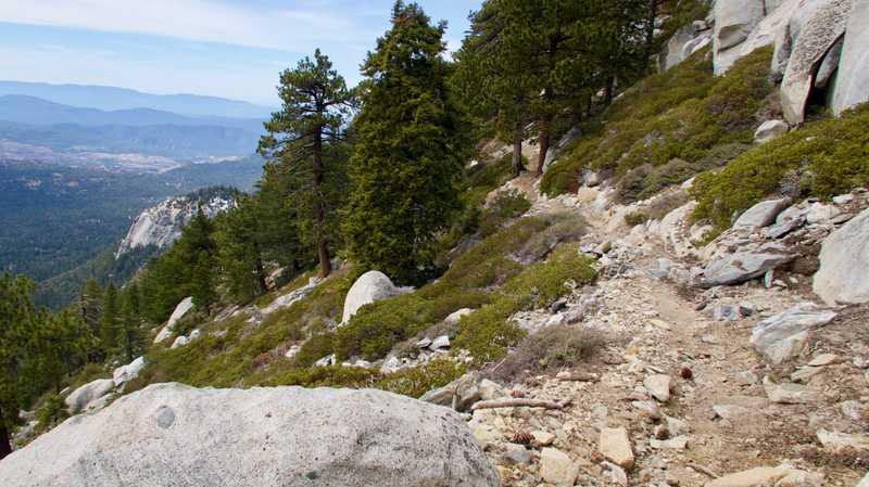 Snow-free trail