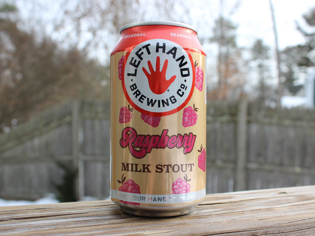 Raspberry Milk Stout, a Stout brewed by Left Hand Brewing Company