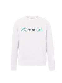 NuxtJS Sweatshirt White