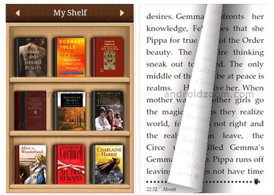 Bookshelf with covers outwards