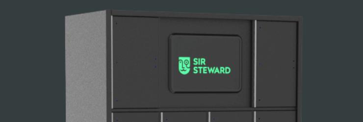 Le casier intelligent et le logo de Sir Steward.