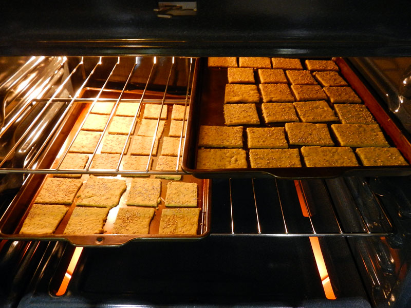 Baking the Crackers