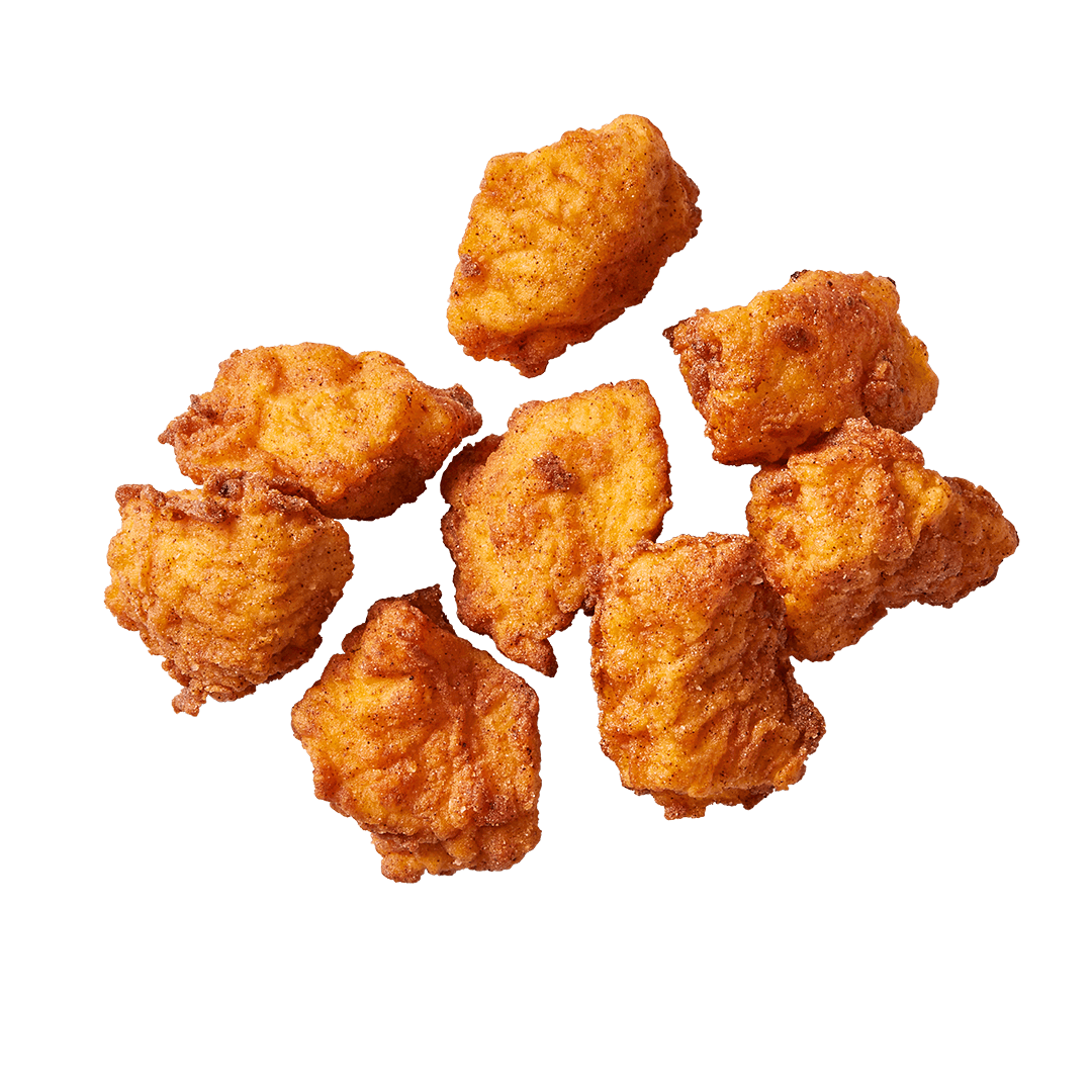 Photo of golden brown, fried Original Chicken Nuggets.