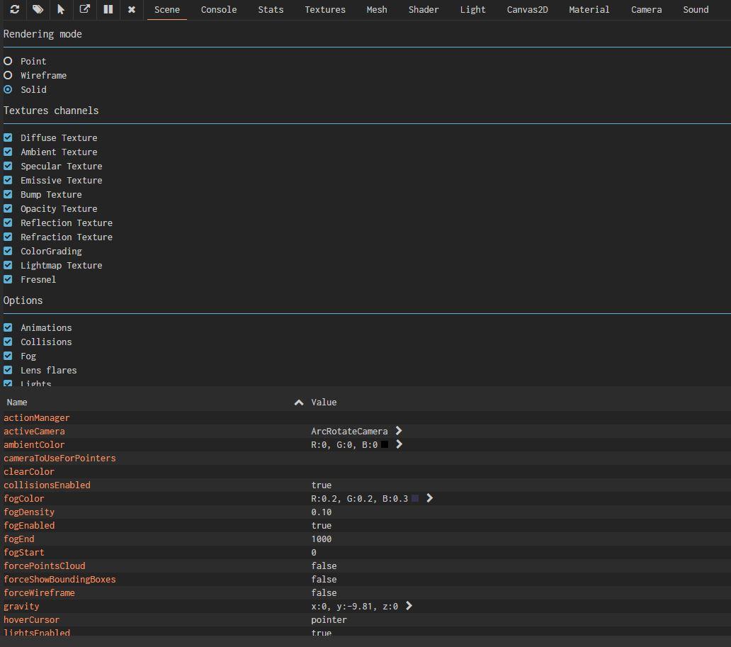 debug layer overview