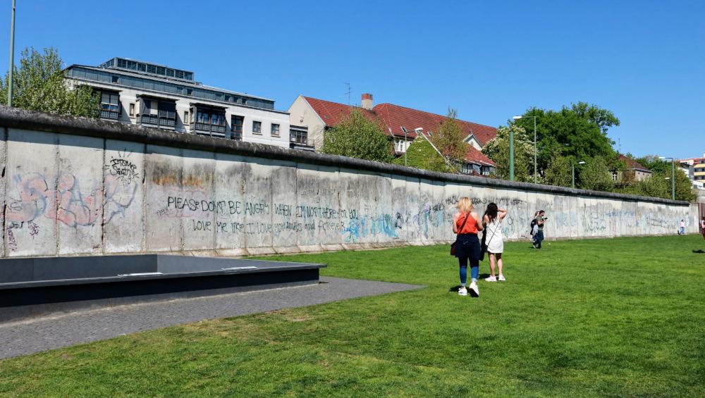 A piece of the original Berlin Wall.