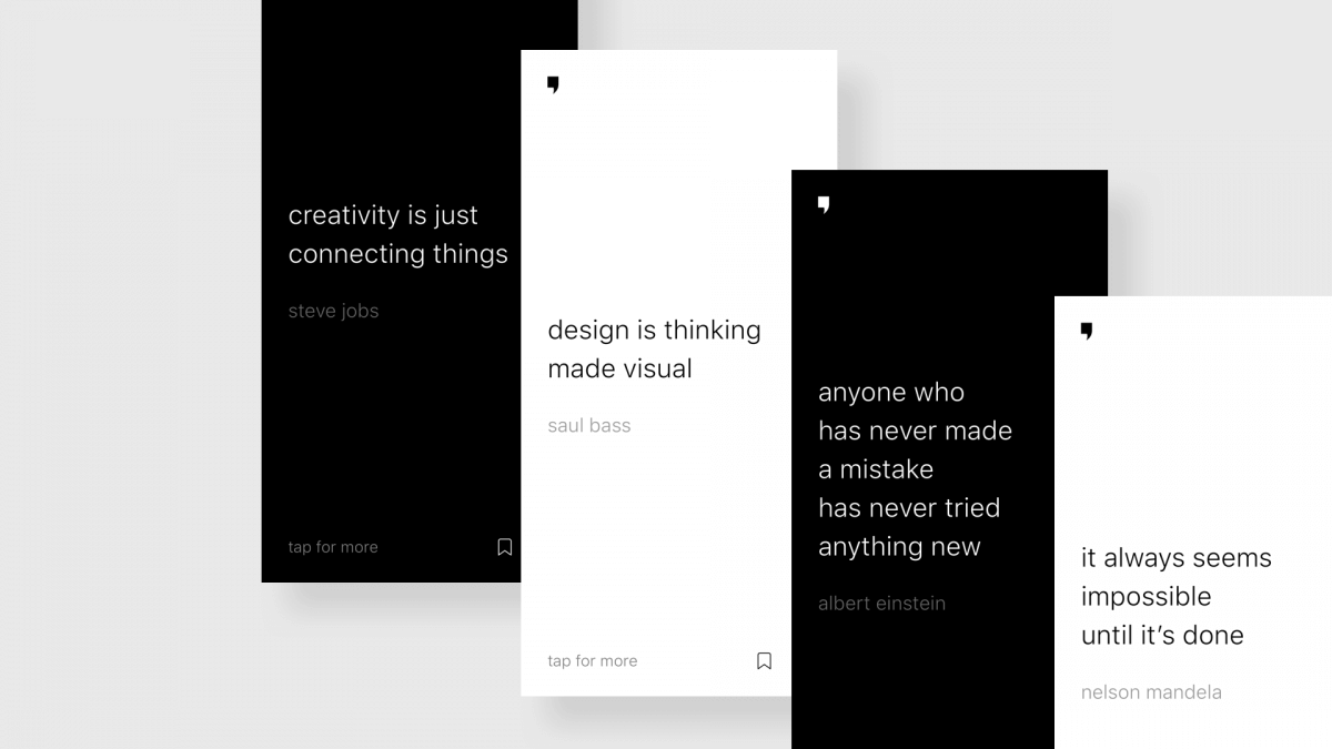 Minimal Quotes app's big picture