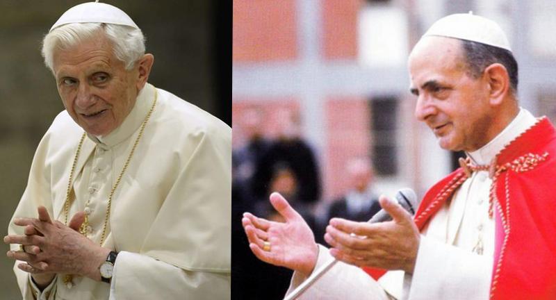 Pope Benedict XVI vs Pope Paul VI