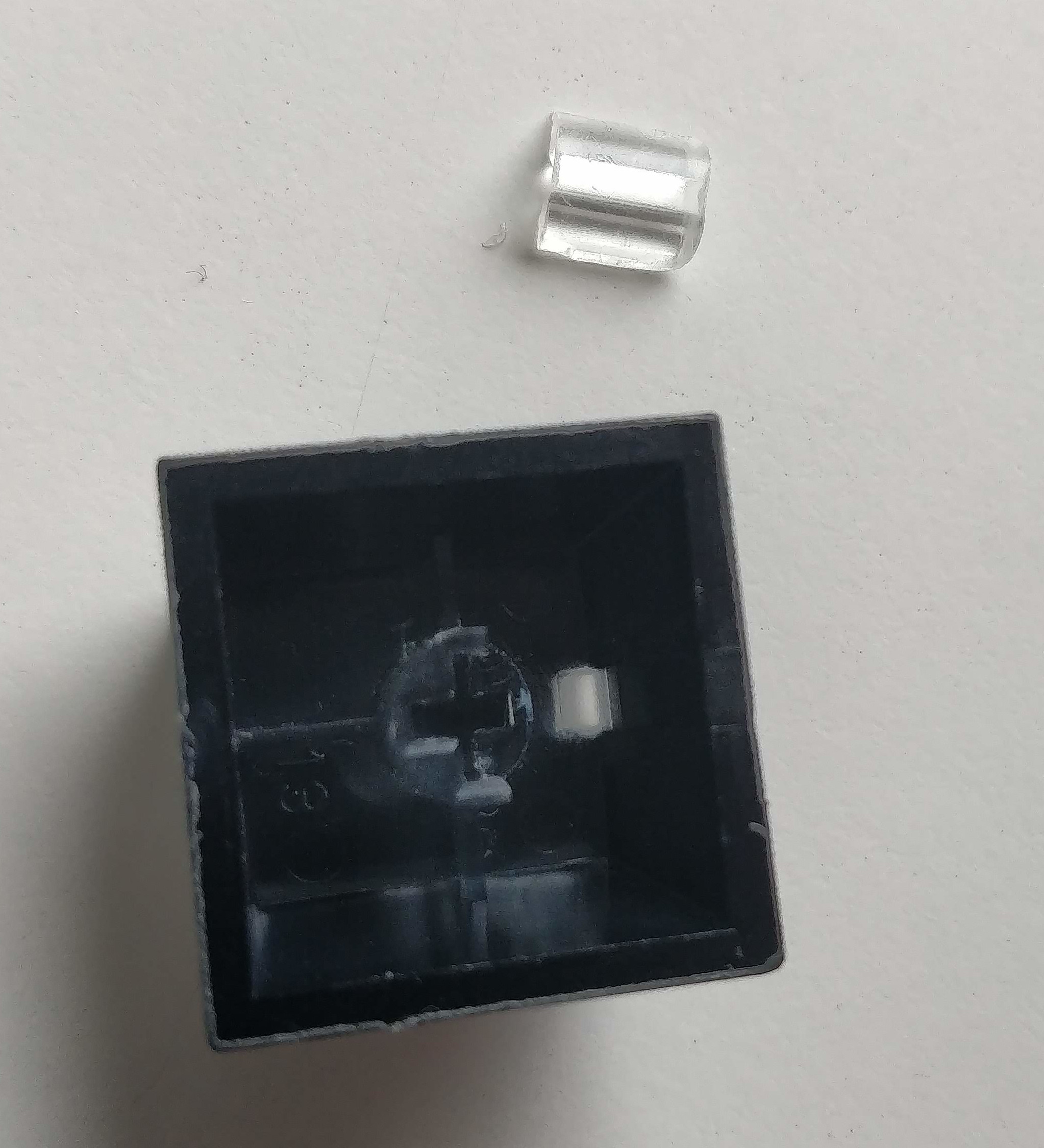 Broken stem of the insert keycap