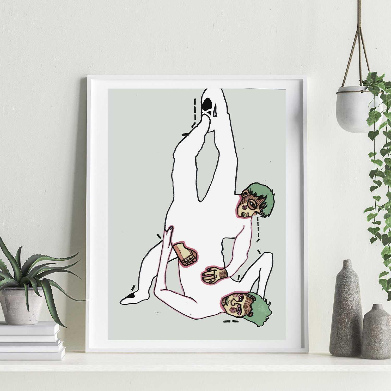 'Catch M e' Giclée Art Print