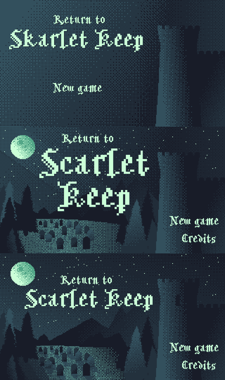 Return to Scarlet Keep Title screen concept
