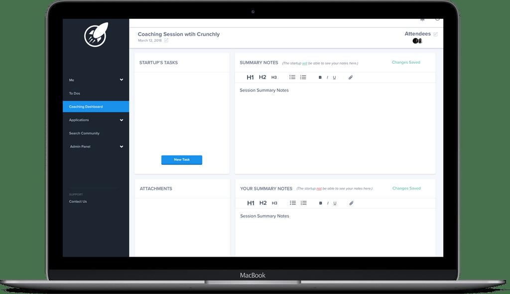 Incubator tool to track startup progress