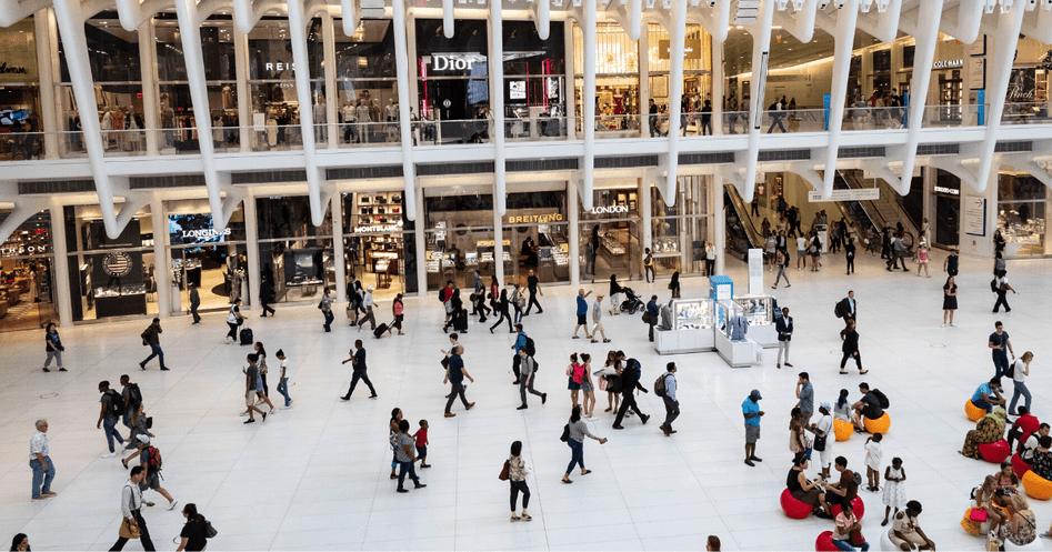 Holiday Shopping at mall