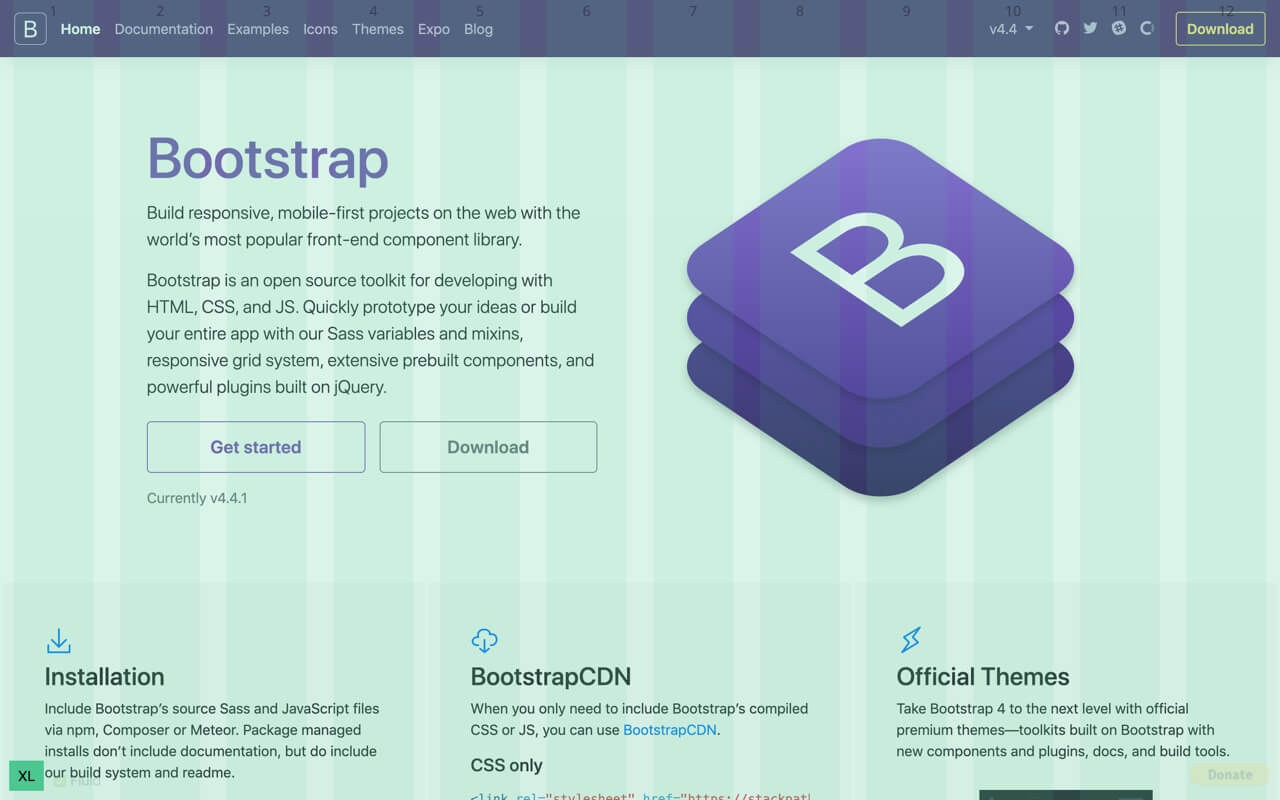 Bootstrap Grid Overlay - fluid container