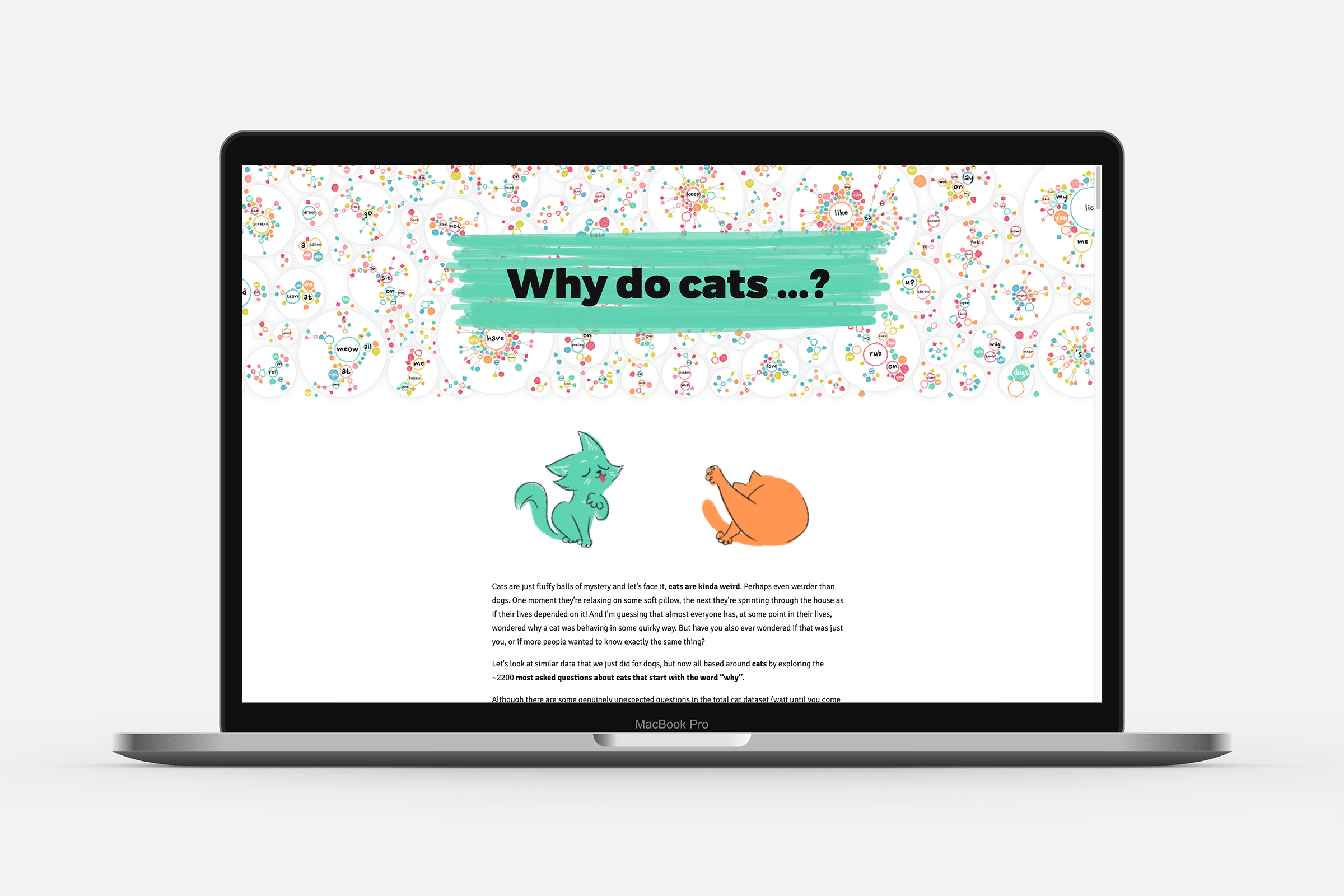 The start of the cat deep dive page