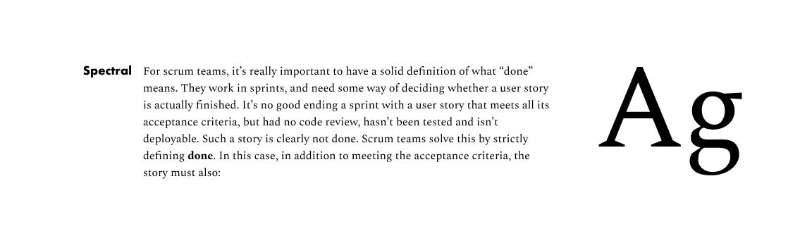 Type Specimen - Spectral