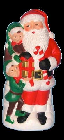 Santa With Elves photo