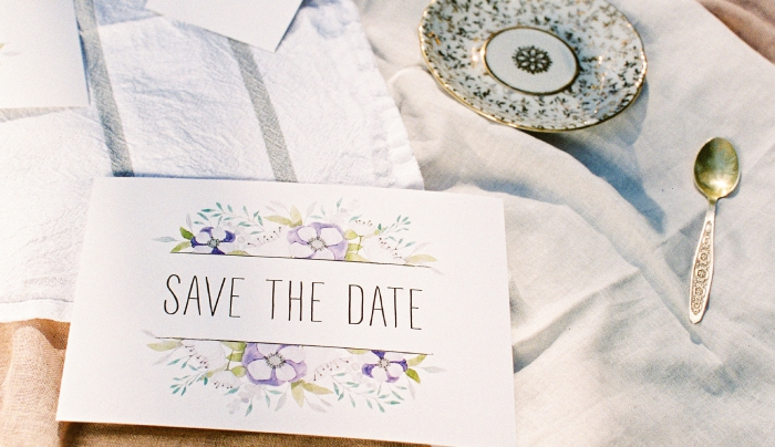 floral save the date card item thumbnail
