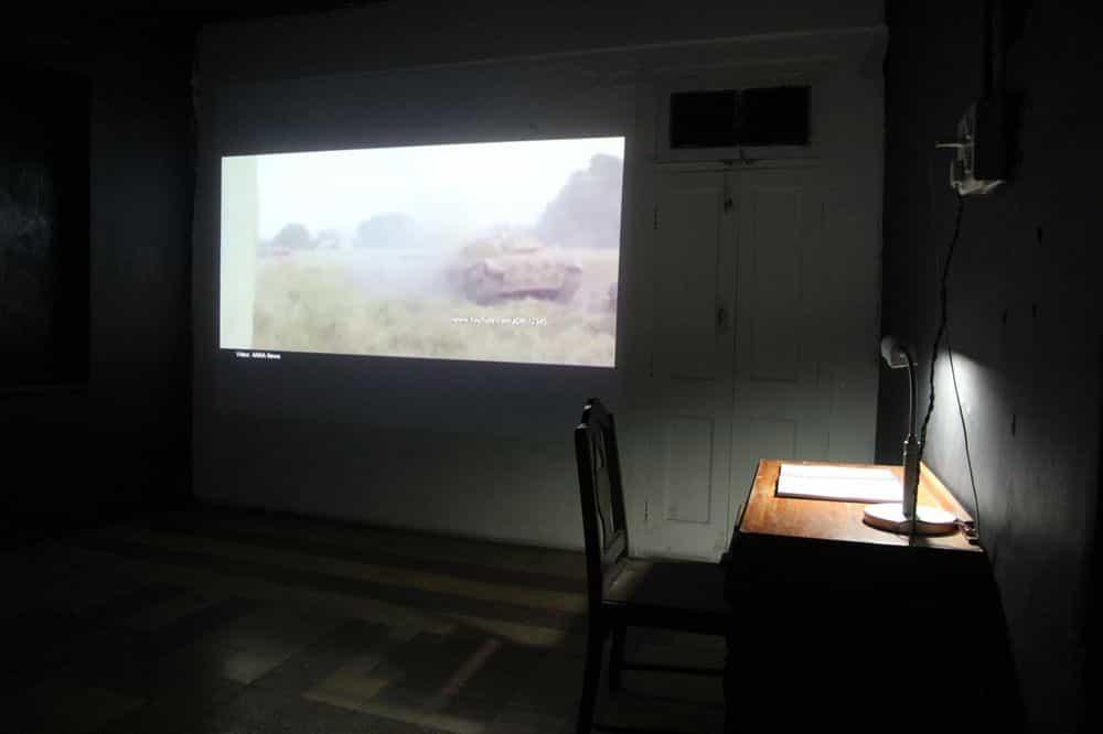 Installation view: Cyborg Archive: WAR • ROOM • ECHO , 2018, ARTEL 2018, TIFA Working Studios