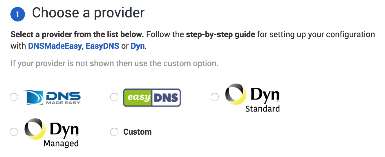Secondary DNS Providers