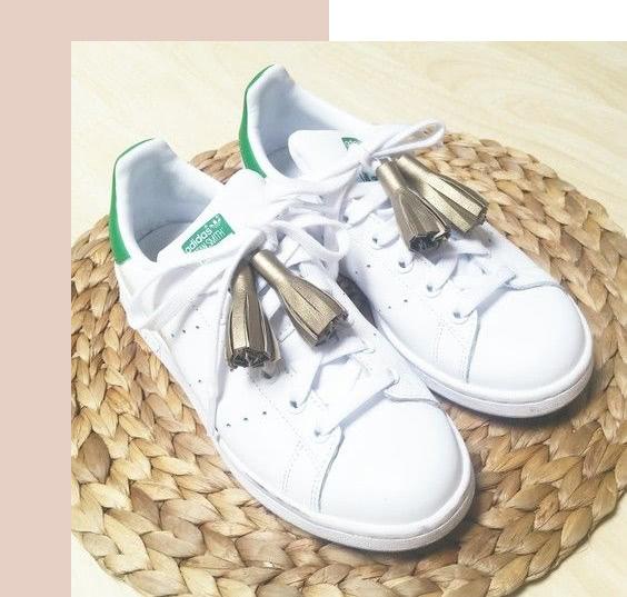 Chaussures personnalisées avec pompoms