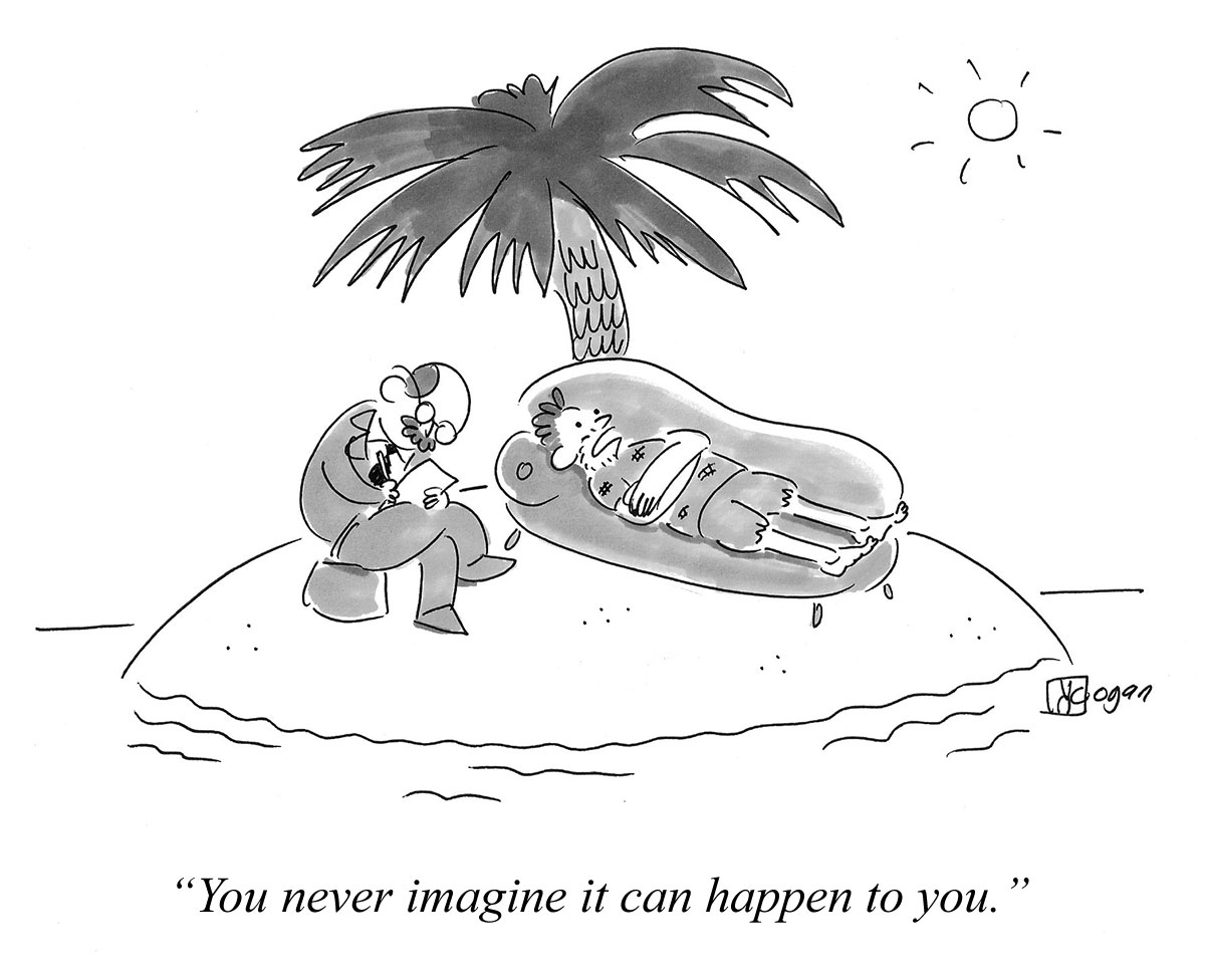 Cartoon about ending up somewhere you didn't think you would.