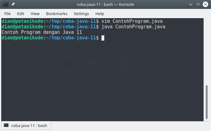 Contoh Program Java denan JDK 11