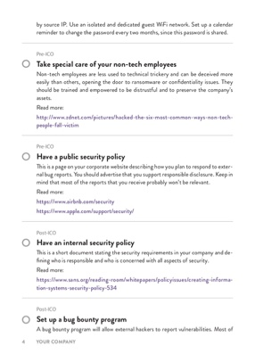 ICO Security Checklist page 3