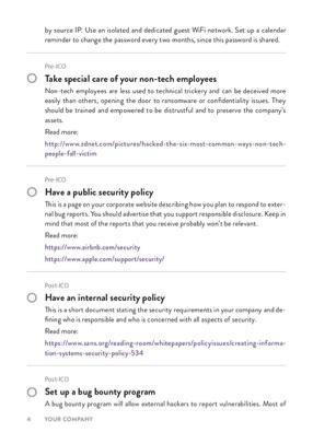 ICO Security Checklist page 3