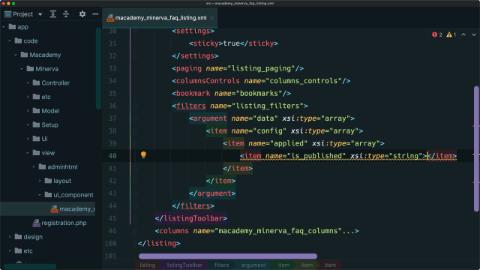 Set default filters on an admin grid