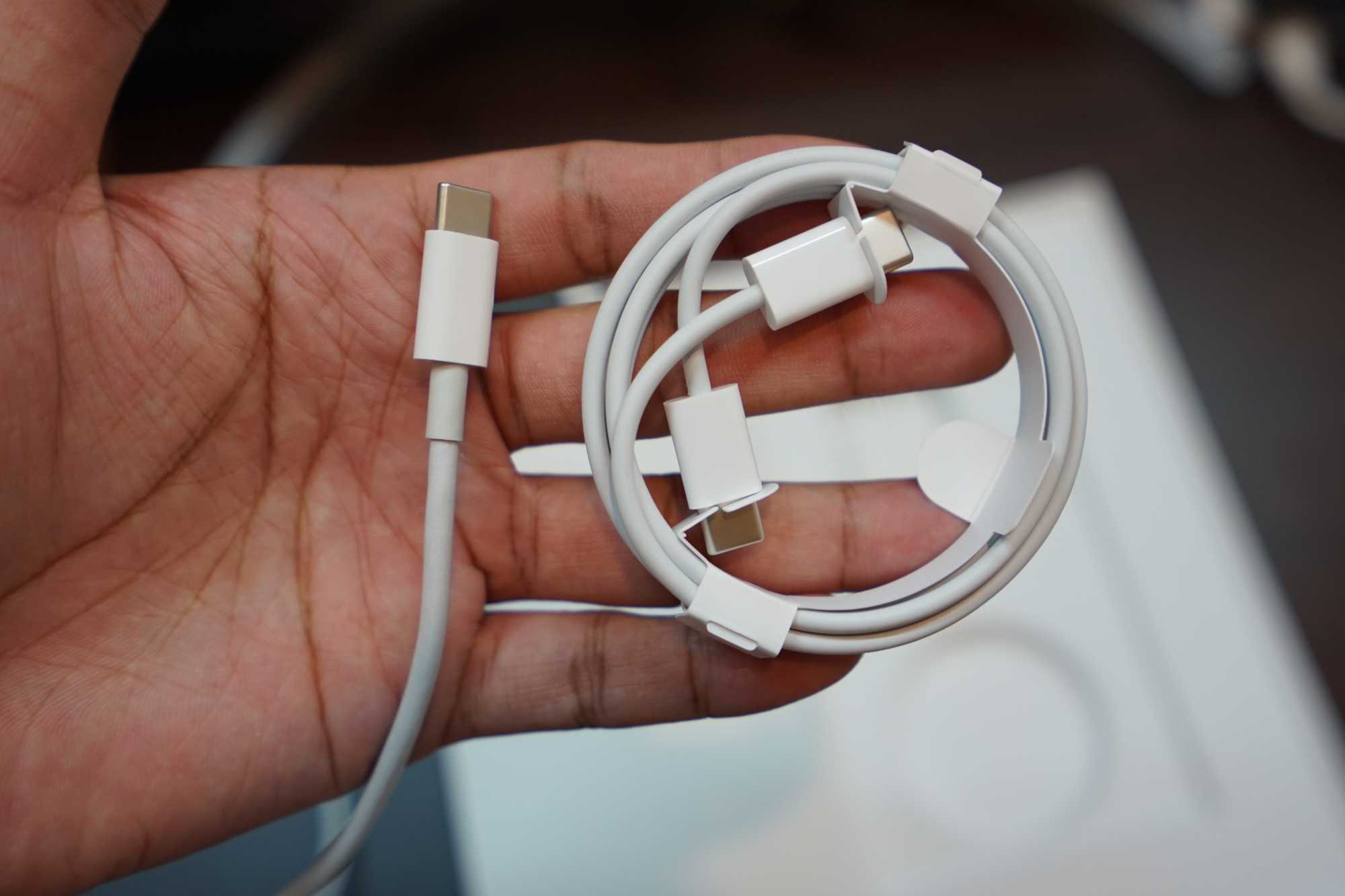 Compare Apple USB-C to USB-C Cable from iPad Pro 11-inch and MacBook Pro