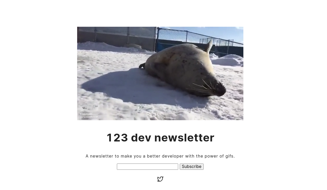 screenshot of 123dev.email home page