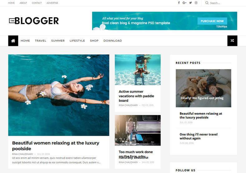 TheBlogger-Blogspot-Template