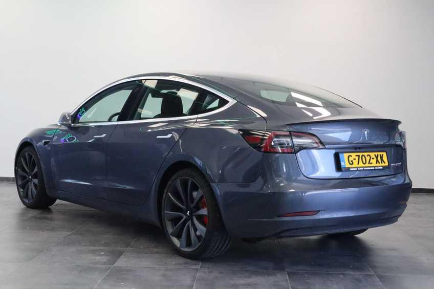 Tesla Model 3 Performance | prijs ex.btw 51450,- | 20`LM Donker grijs. afbeelding 3