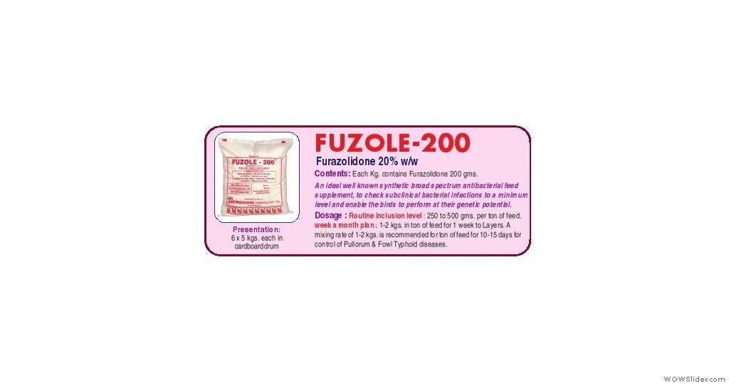 Furazolidone 20% Powder