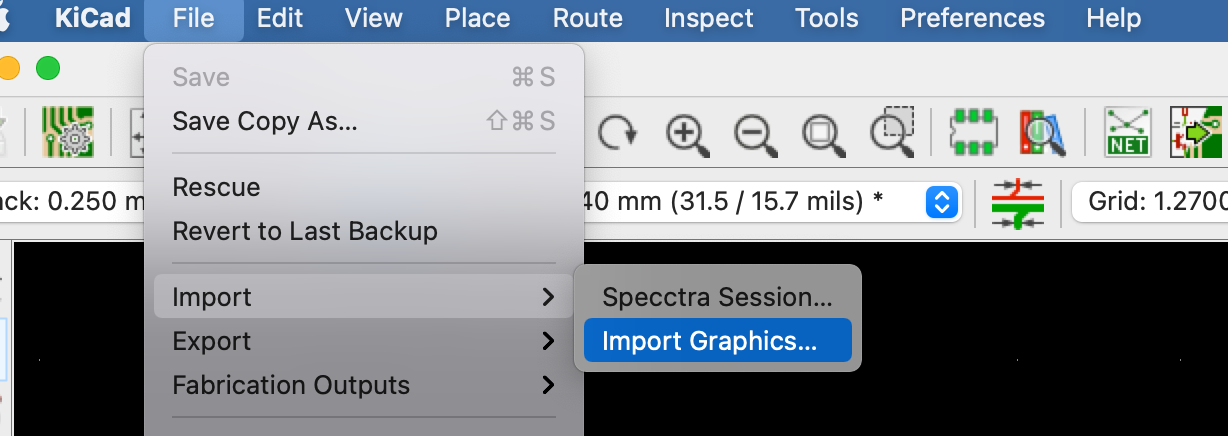 Importing the dxf file as a graphic