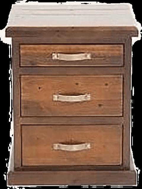 6 drawer 'Felton' pine beside - dark colour