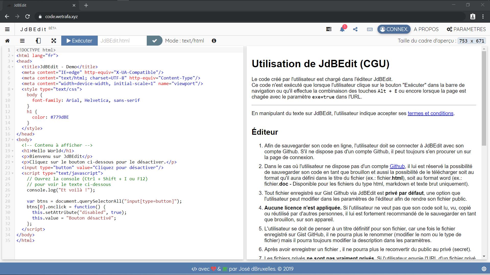 JdBEdit - IDE web