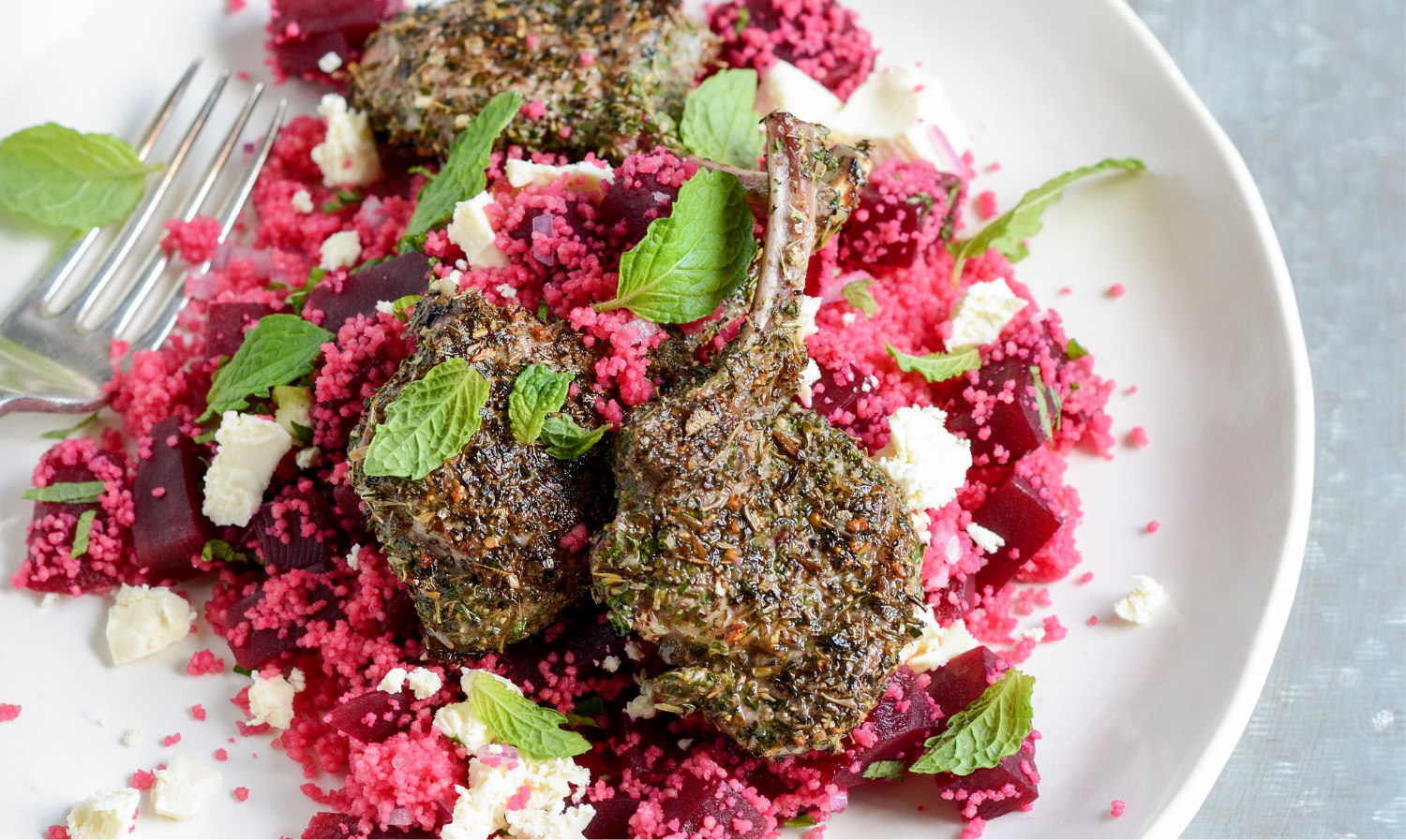 Wicked Lamb with Beetroot Couscous