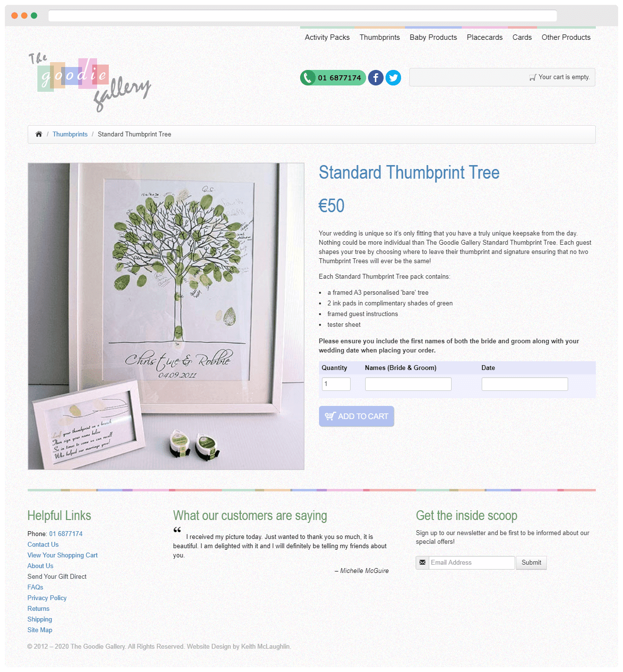 The Goodie Gallery Thumbprints Page