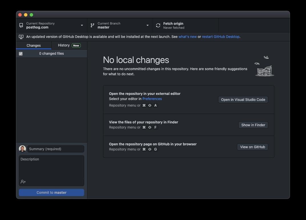 GitHub Desktop cloned successfully