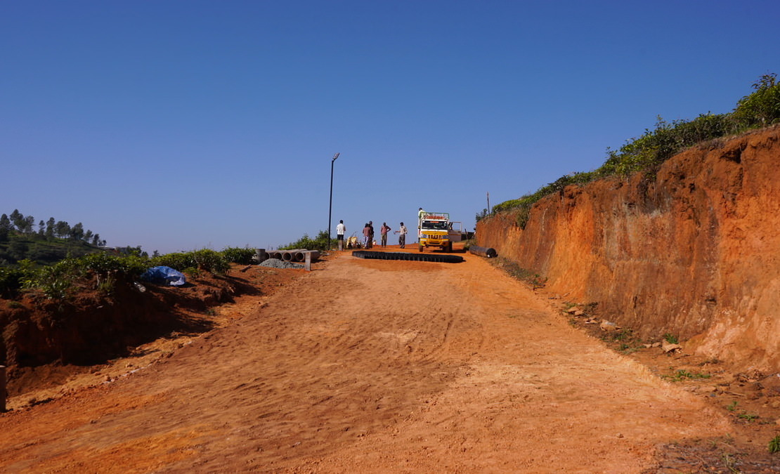 Road being laid