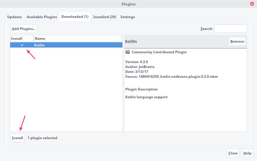 Install Plugins Kotlin