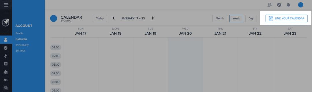 Linking your Calendar