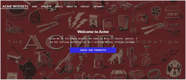 Acme Widgets Webpage