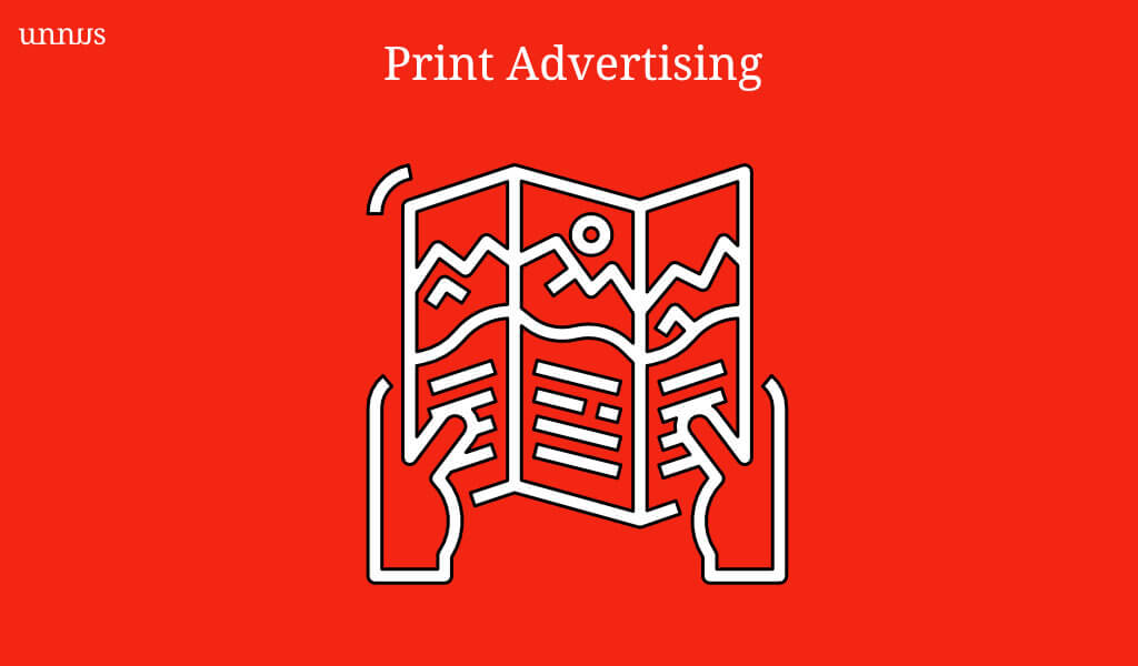 Illustration of Print Advertising in healthcare