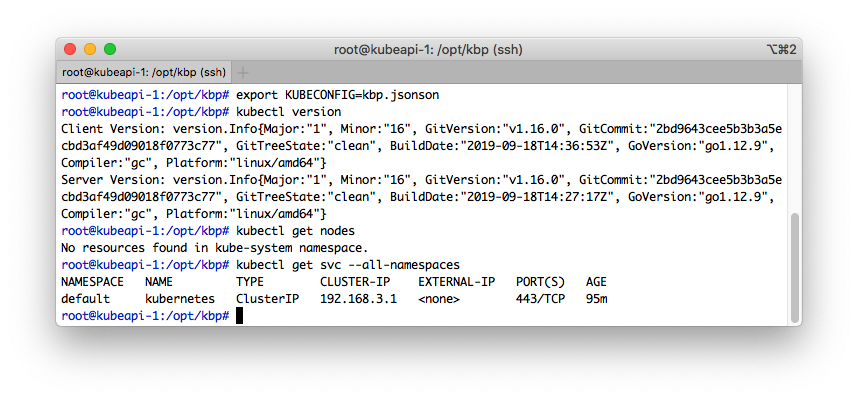 Issuing queries against empty kube-apiserver