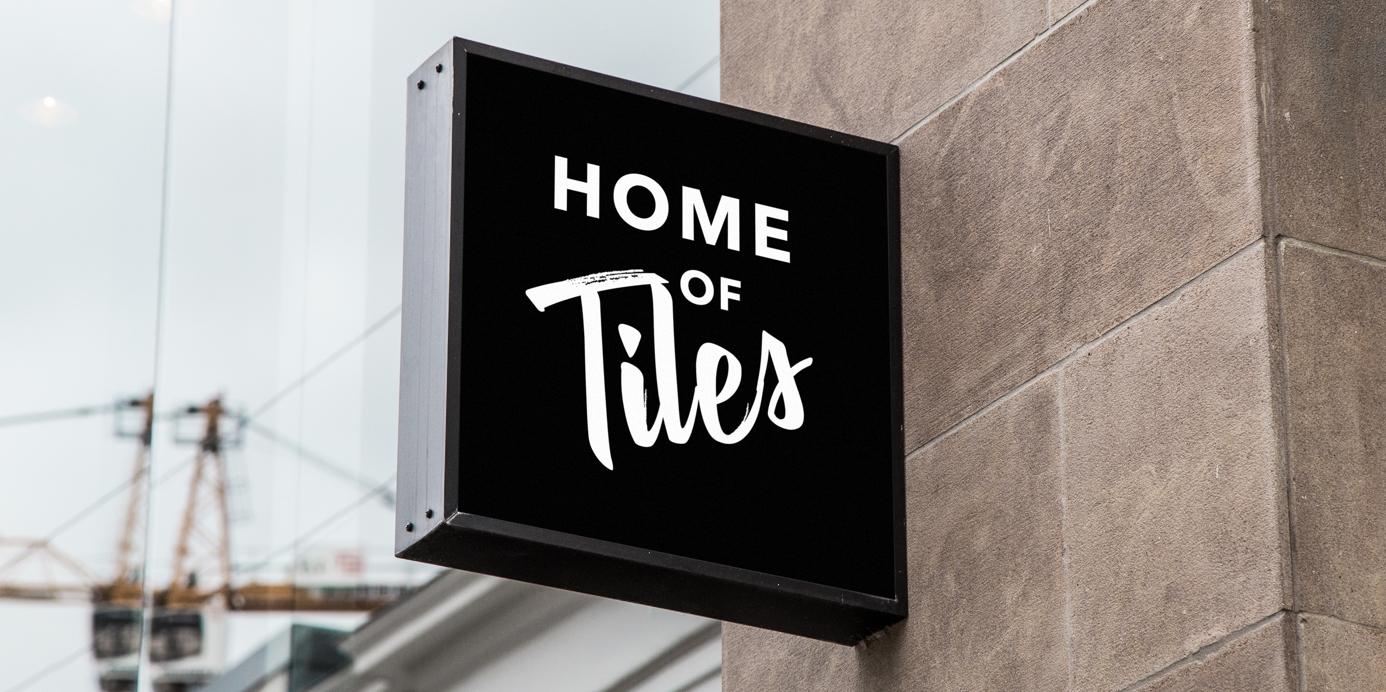 Concept backlit street sign for Tile Depot redesign