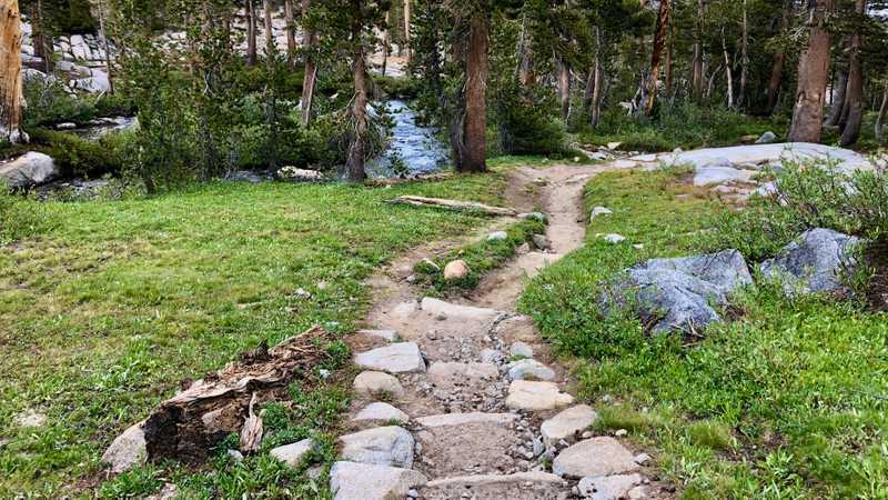 Approaching Rush Creek