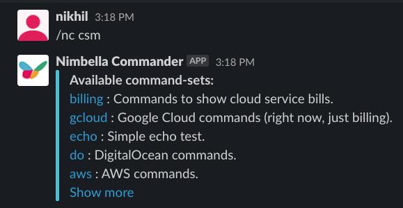 serverless command